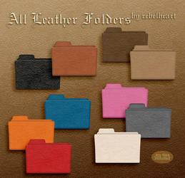 all leather folders