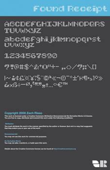 Found Receipt Font demo