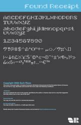Found Receipt Font demo by mocha-san
