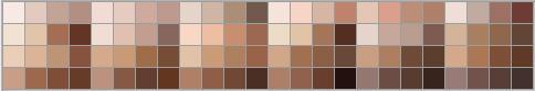Photoshop skin tone swatch