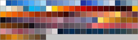 Sky colour palette swatch by Zedna7