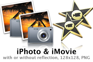 iPhoto and iMovie icon replica by fyton5