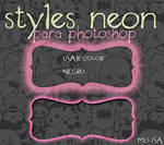 Style Neon Photoshop