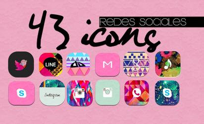 Icons Redes Sociales by MeelisaS