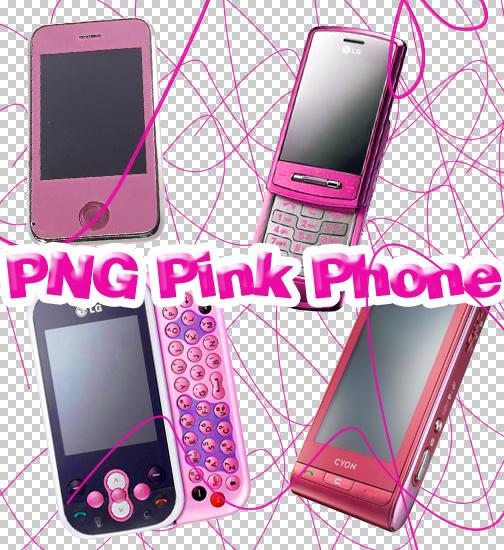 PNG Pink Phone by joonasbtotaal