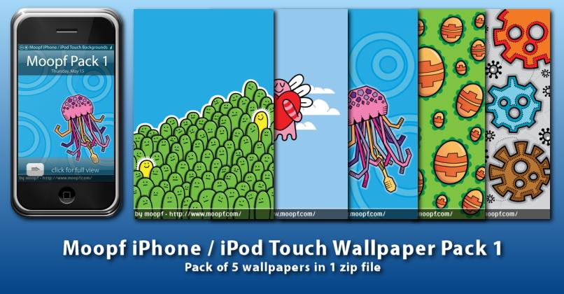 Moopf iPhone Wallpaper Pack 1