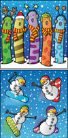 Christmas Card Collection by moopf