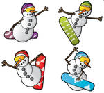 Snowboarding Snowman Gift Tags