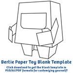 Bertie Paper Toy Template