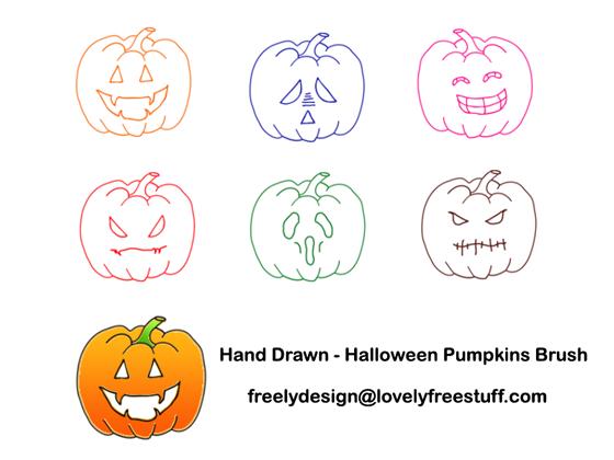 Halloween Photoshop Brush by freelydesign