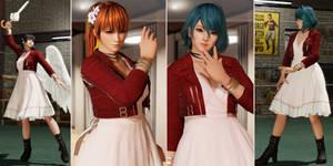 DOA6 Mod: Aerith Dress for Kasumi/Phase/Nyo/Tamaki
