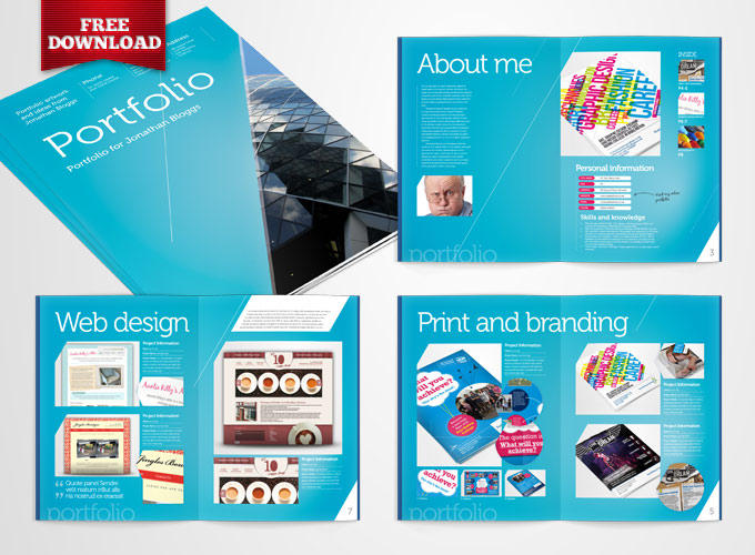 free indesign portfolio template by crs ind templates