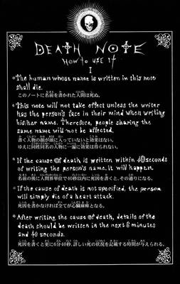 DeathNote Rules'How to use it'
