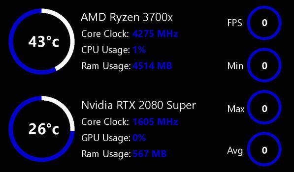 CPU GPU FPS Monitor 1.1