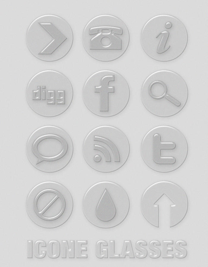 Beautiful Glass Web Icons PSD by webodream