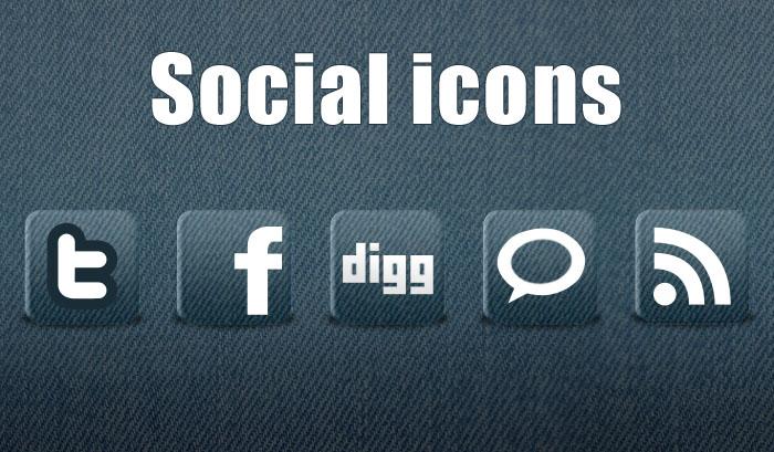 5 Free New Social Icons