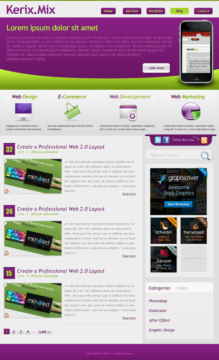 layered psd template web 2 0 by webodream on deviantart