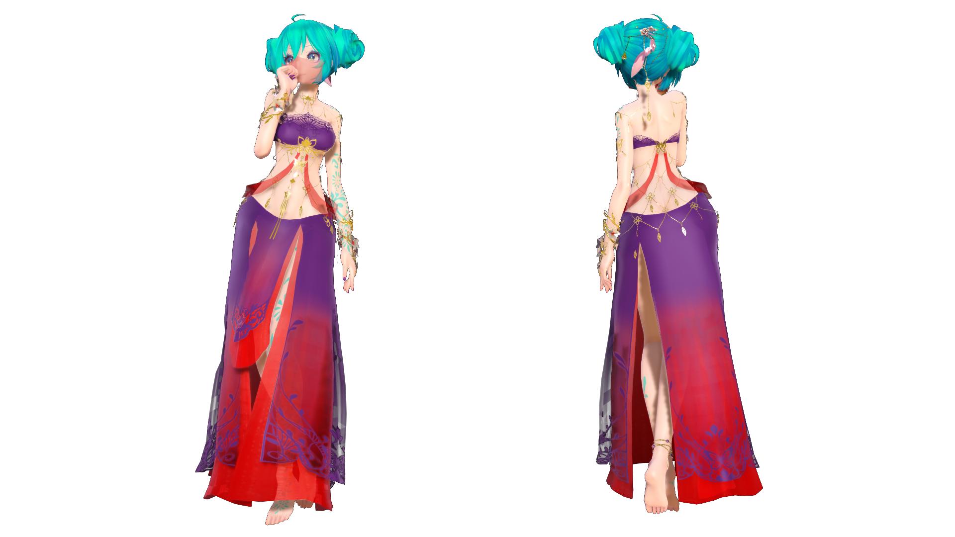 Model DL - TDA Belly Dancer Miku