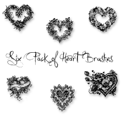 Photoshop Heart Brushes by ai-forte