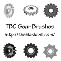 Photoshop Gear Brushes by ai-forte