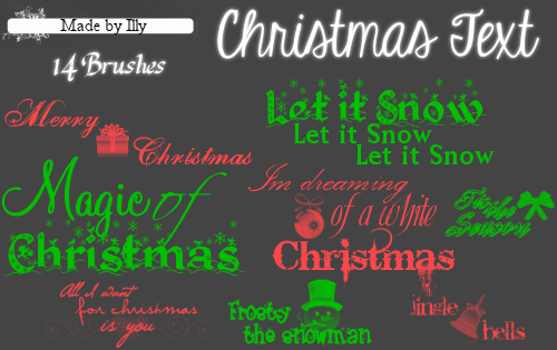 Christmas Text by Illyera