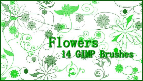 GIMP Flower Brushes by Illyera