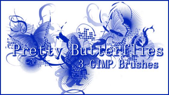 GIMP Pretty Butterflies by Illyera