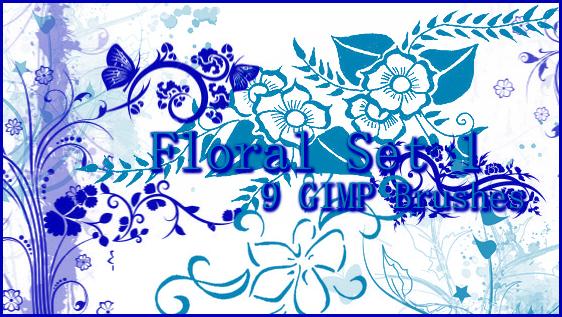 GIMP Floral Set 1 by Illyera