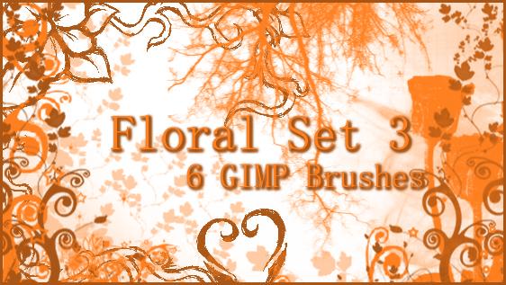 GIMP Floral Set 3