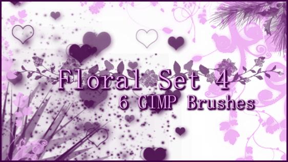 GIMP Floral Set 4 by Illyera