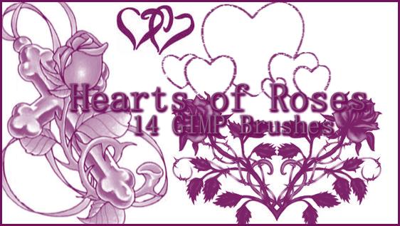 GIMP Hearts of Roses by Illyera