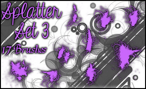 Splatter Brushes Set 3