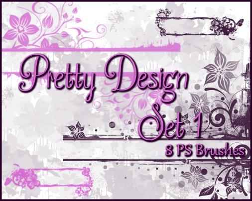 PS Pretty Floral Design Set1 by Illyera