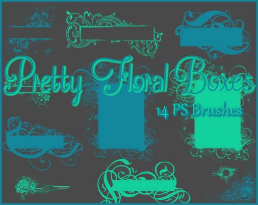 PS Pretty Floral Boxes by Illyera