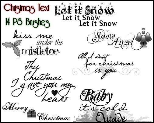 PS Christmas Text