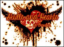 Skulls and Hearts Set by Illyera