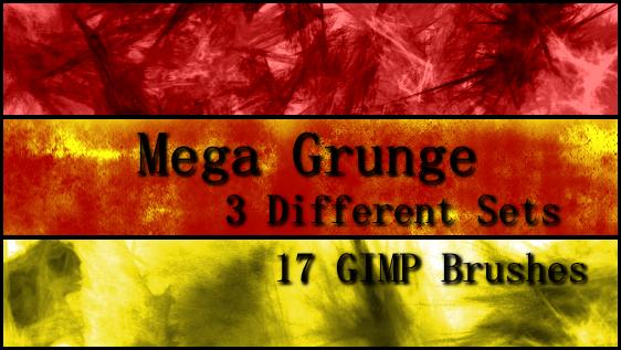 GIMP Mega Grunge Brushes by Illyera
