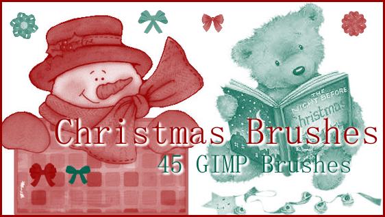 GIMP Christmas Brushes