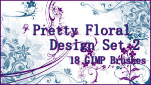 GIMP Pretty Floral Design Set 2