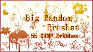 GIMP Big Random Brushes