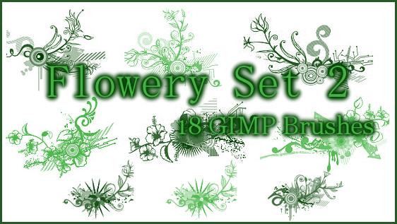 GIMP Flowery Set2