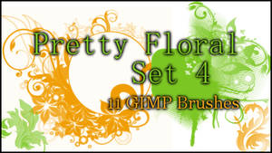 GIMP Pretty Floral Set4