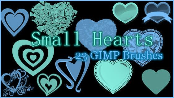GIMP Small Hearts by Illyera