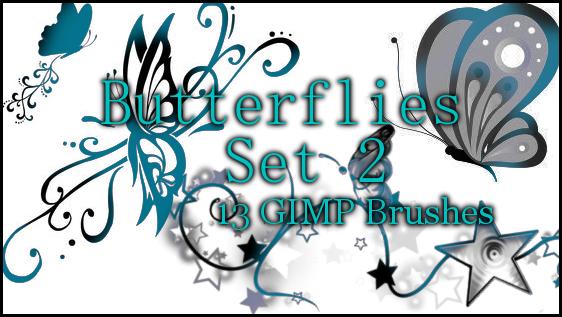 GIMP Butterflies Set 2 by Illyera