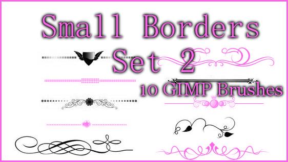 GIMP Small Borders Set 2 by Illyera