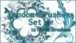 GIMP Random Brushes Set 4 by Illyera
