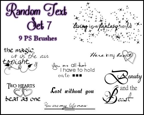 PS Random Text Set 7