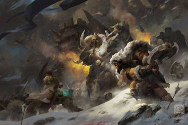 Painting Process of 'Rise of the Frostwolf Clan' by 6kart