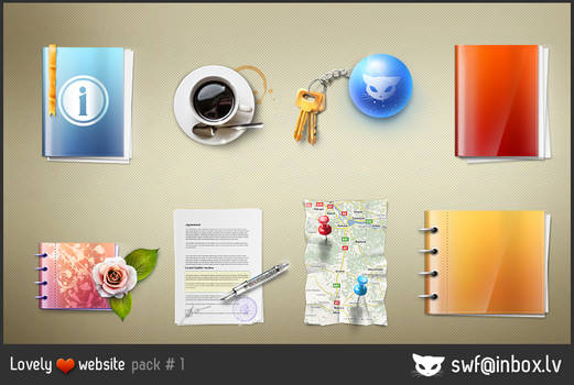 Lovely website icons pack 1