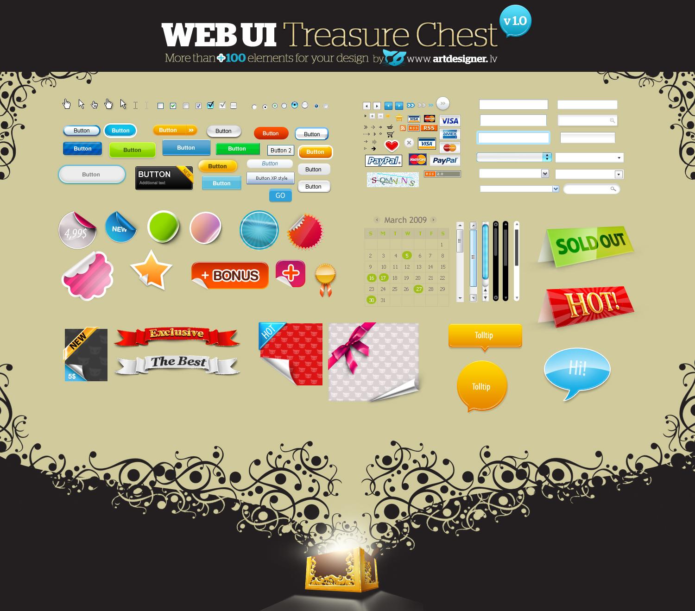 WEB UI Treasure Chest v 1.0 by lazymau